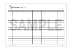 visitor sign in sheet template visitors