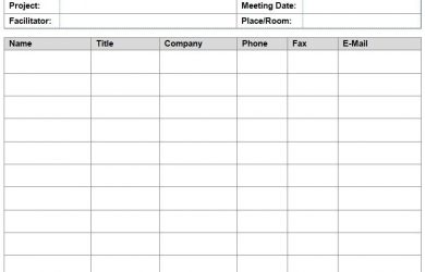 visitors signing in sheet meeting sign in sheet template