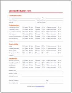 volunteer application template volunteer evaluation form x