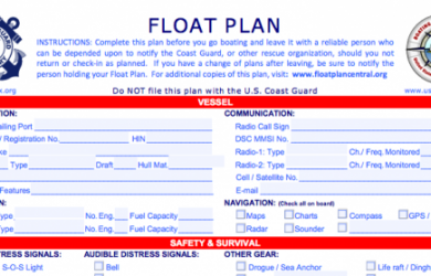 volunteer form template floatplan x