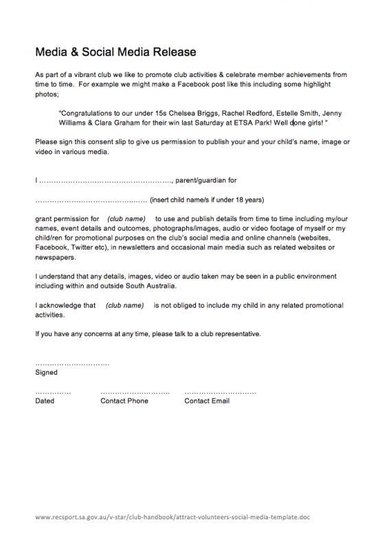 volunteer forms templates