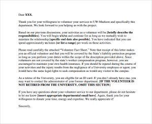 volunteer thank you letter basic volunteer thank you letter