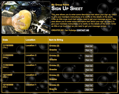 volunteer time sheet