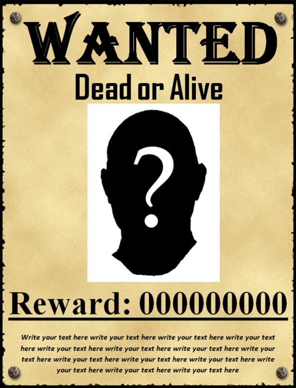 Wanted Poster Template | Template Business