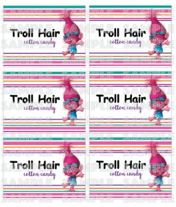 water bottle label template free fddcdacaf troll hair cotton candy trolls cotton candy
