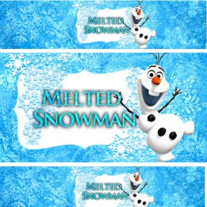 water bottle label template free melted snowman water bottle labels