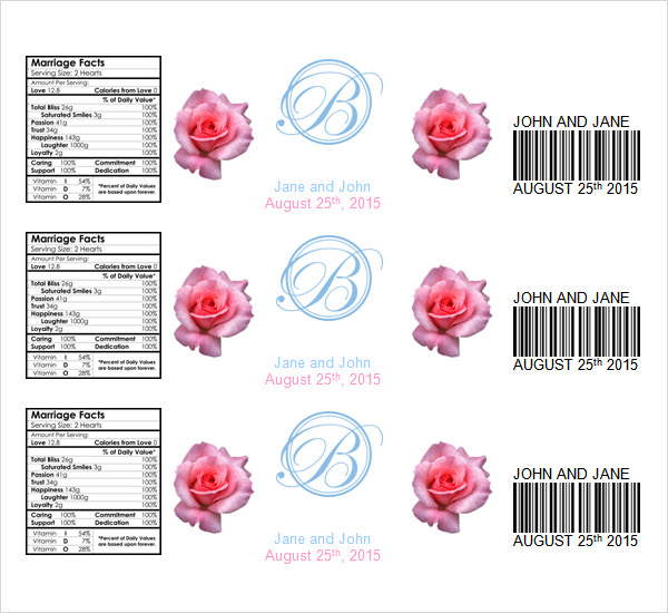 bottled water label template - water bottle label template template business