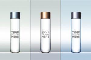 water bottle mockup cylindrical water bottle mockup