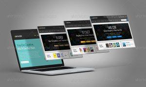 web page mockup macbook laptop website showcase mockup