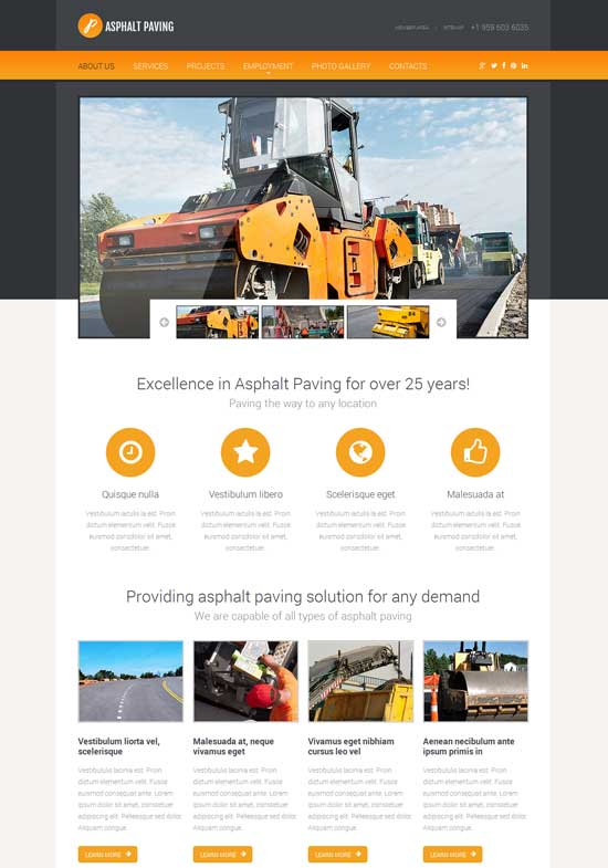 web template html5
