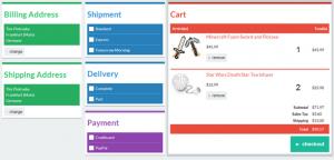 web template html flat checkout ui