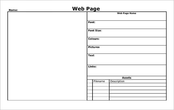 Website Storyboard Template  Template Business