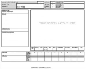 website storyboard template download website sceen layout storyboard template word format