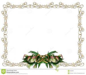 wedding announcement template calla lilies floral border wedding invitation