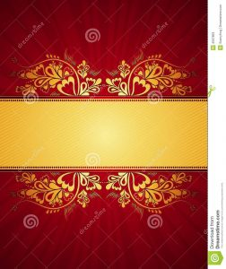 wedding announcement templates golden background vector