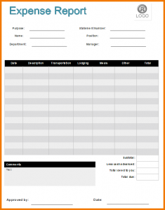 wedding budget template expense report form expense report form example