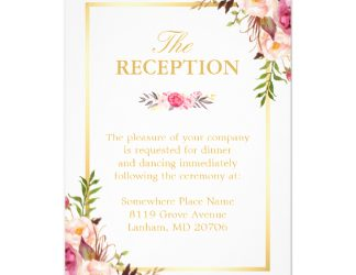 wedding budget template wedding reception elegant chic floral gold frame card racebbfbec zklg