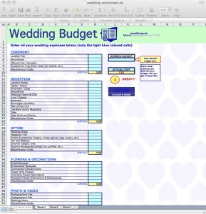wedding budget worksheet wedding budget spreadsheet