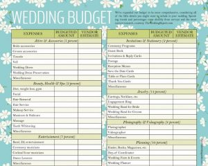 wedding budget worksheet designed wedding budget template for download