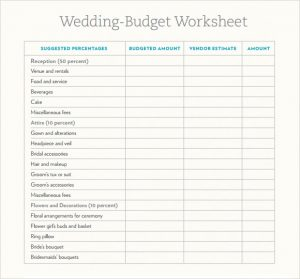 wedding budget worksheet wedding budget worksheet