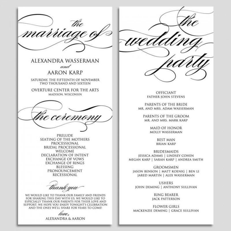 wedding ceremony template