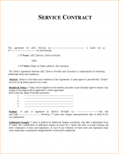 wedding contract template contract for services template service contract template