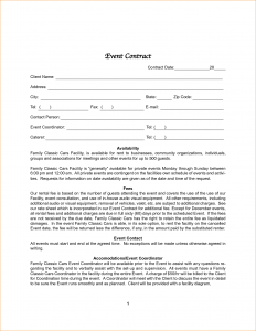 wedding contract template event contract template