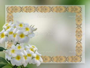 wedding invitation background depositphotos wedding invitation plumeria ()