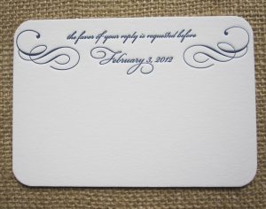wedding invitation formatting responsecard traditional