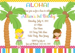 wedding invitation templates free download hawaiian party invitations hula custom luau print your own birthday celebrate kids th children boys girls polka dot lines pattern design