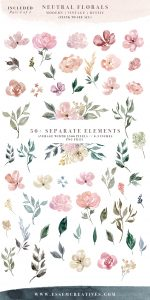 wedding invitation templates free download neutral watercolor flowers clipart floral borders frames for wedding invitations logos commercial use