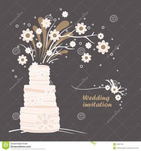 wedding invite background vintage wedding invitation card template wedding cake flowers illustration