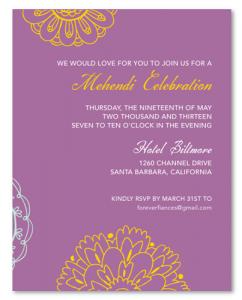 wedding invite formats sacred color mehendi insert re
