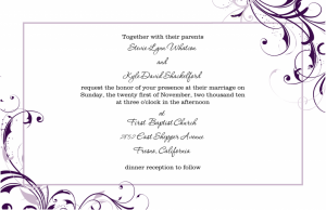 wedding invite formats wedding invitation template rectangle landscape white purple floral pattern black formal wording free wedding invitation templates excel pdf formats x