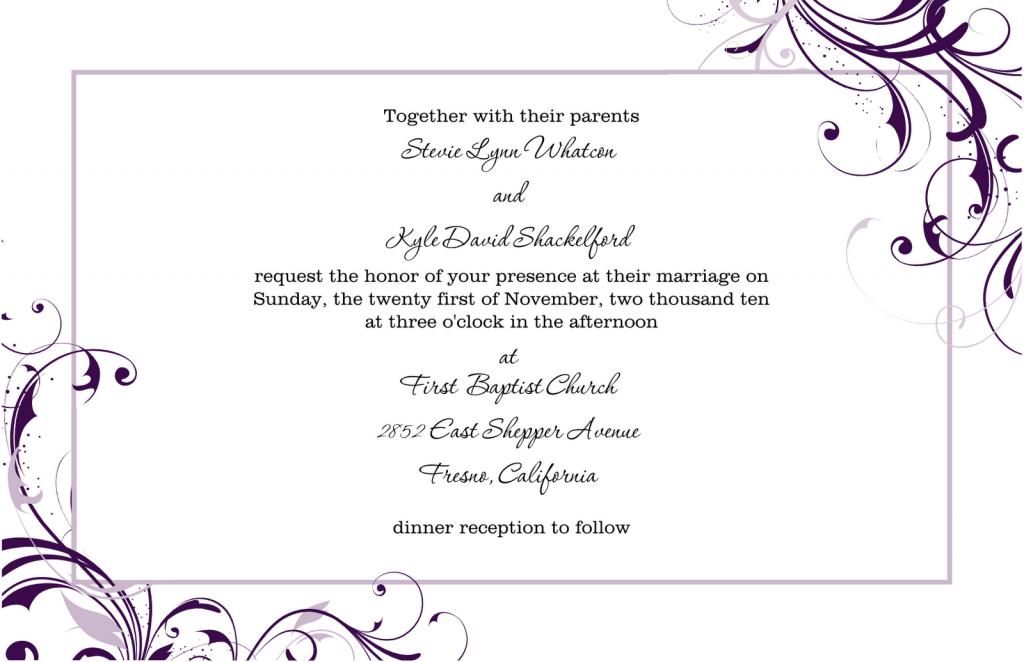 wedding announcement templates free