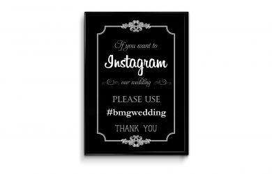 wedding menu samples if you instagram flyer poster frame mockup