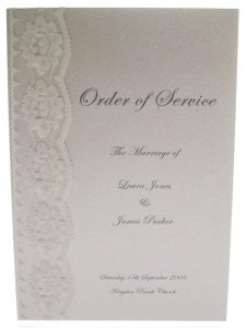wedding order of service chantilly order of service