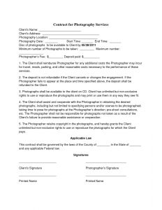 wedding photography contract pdf page