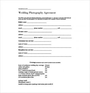 wedding photography contract pdf wedding photography contract pdf file