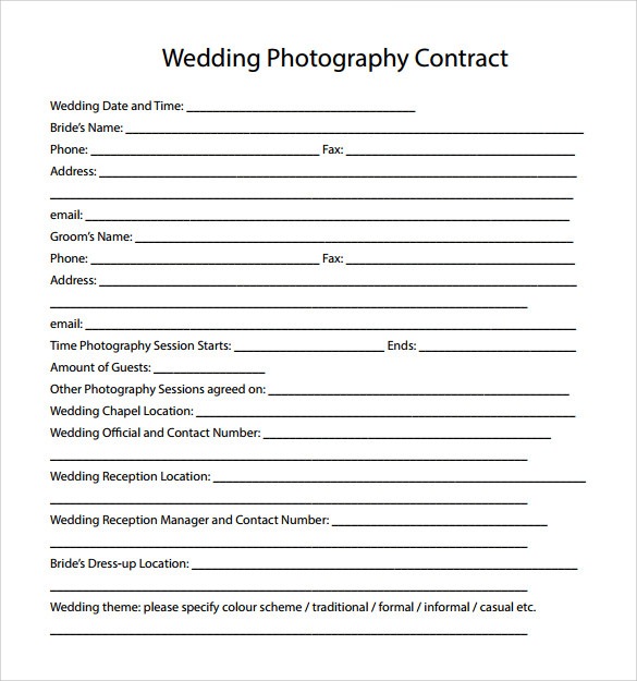 Photography contract pdf 13 clarifications on photography for Birth photography contract template