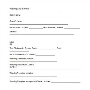 Wedding Photography Contract Pdf