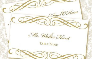 wedding place card template printable placecards templates free