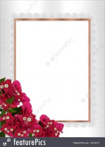wedding plan templates floral border frame stock illustration