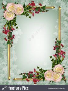 wedding plan templates wedding invitation elegant floral stock illustration
