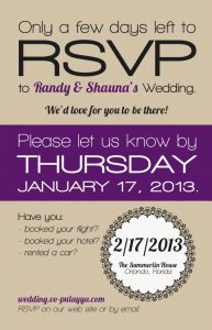 wedding program design deadlinetorsvp