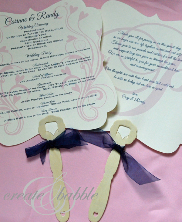 wedding program fan template
