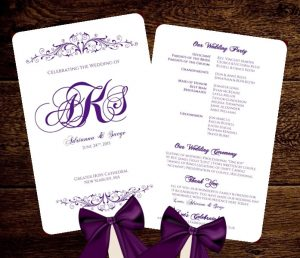 wedding program fan templates il fullxfull mtdk