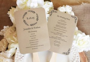 wedding program fan templates vine wedding
