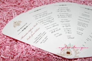 wedding program fans template fan program