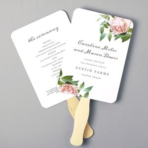 wedding program fans template il fullxfull evqw